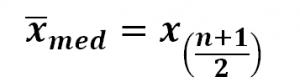 Berechnung Median ungerade Zahl