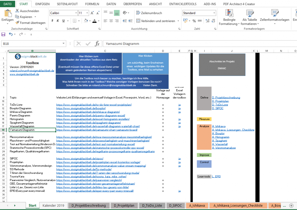 Excel Lean Toolbox
