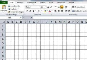 Kariertes Papier Excel
